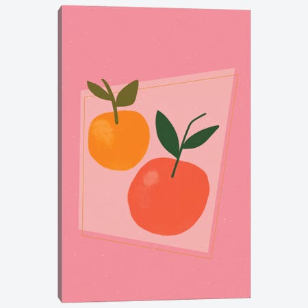 Oranges Canvas Print #GES127} by Galaxy Eyes Canvas Art