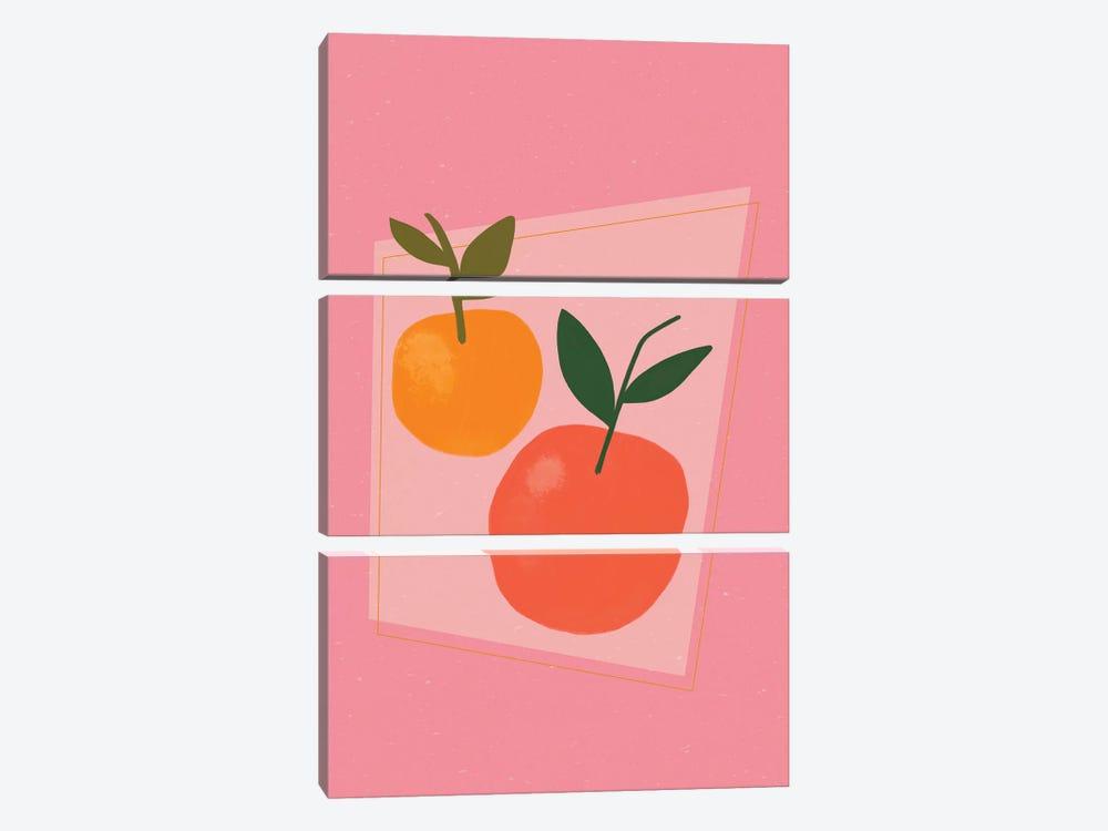Oranges by Galaxy Eyes 3-piece Canvas Wall Art