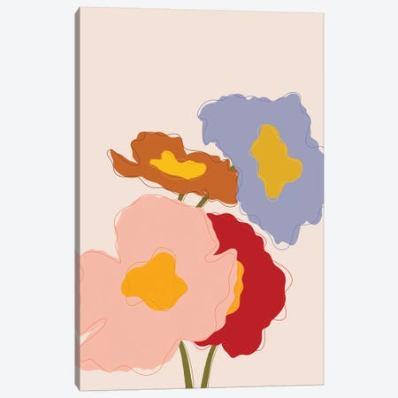Bouquet I Canvas Print #GES128} by Galaxy Eyes Art Print