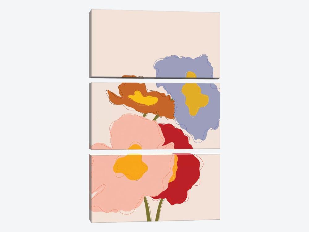 Bouquet I by Galaxy Eyes 3-piece Canvas Art Print