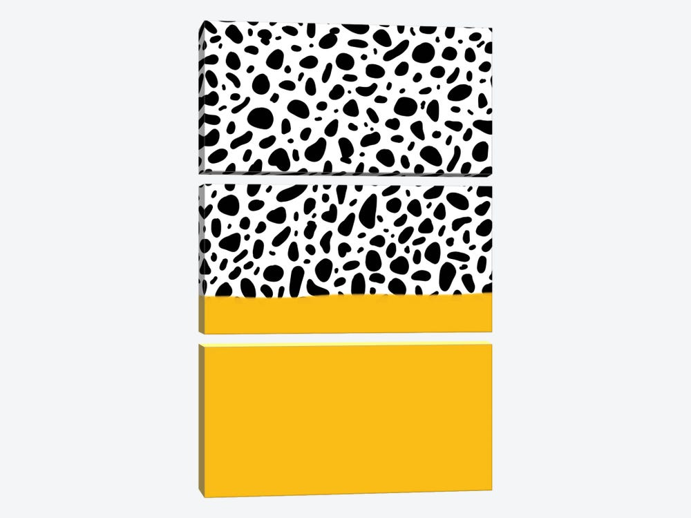 Dalmatian - Yellow by Galaxy Eyes 3-piece Canvas Print