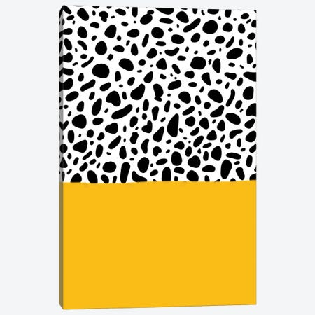 Dalmatian - Yellow Canvas Print #GES131} by Galaxy Eyes Canvas Wall Art