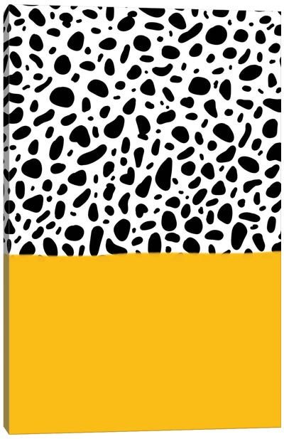 Dalmatian - Yellow Canvas Art Print