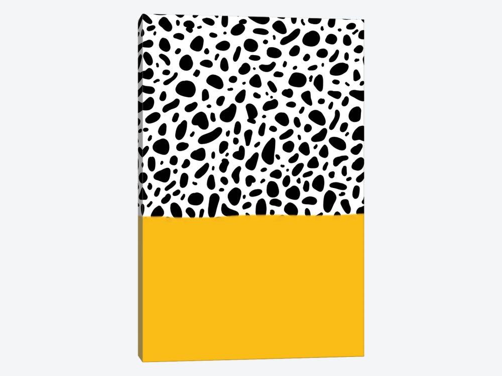 Dalmatian - Yellow by Galaxy Eyes 1-piece Canvas Print