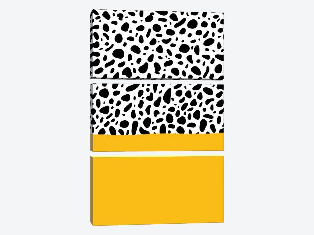 Dalmatian - Yellow by Galaxy Eyes 3-piece Canvas Print