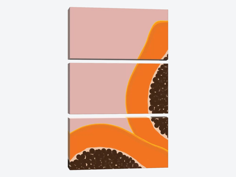 Papaya by Galaxy Eyes 3-piece Canvas Print