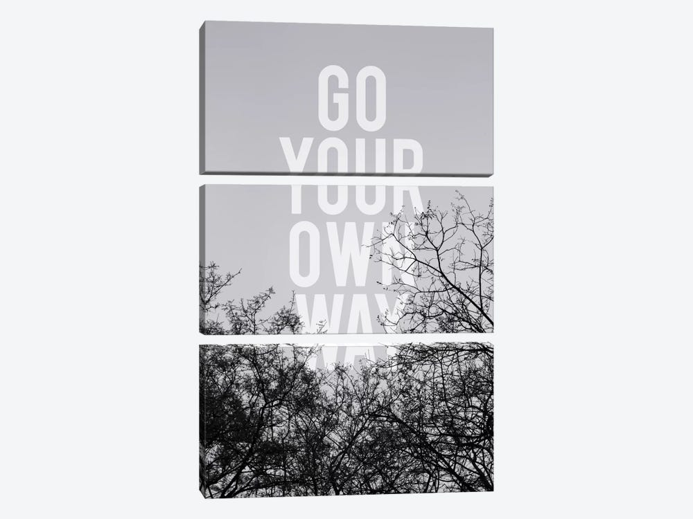 Go Your Own Way by Galaxy Eyes 3-piece Canvas Print