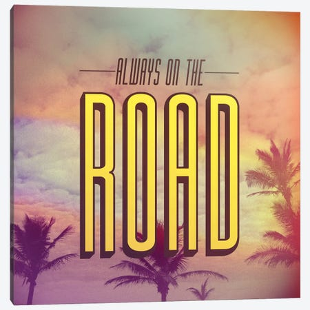 On The Road Canvas Print #GES41} by Galaxy Eyes Canvas Artwork