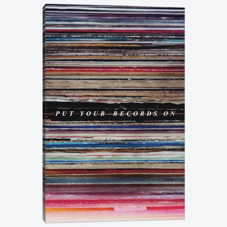 Record Son Canvas Print #GES42} by Galaxy Eyes Canvas Wall Art
