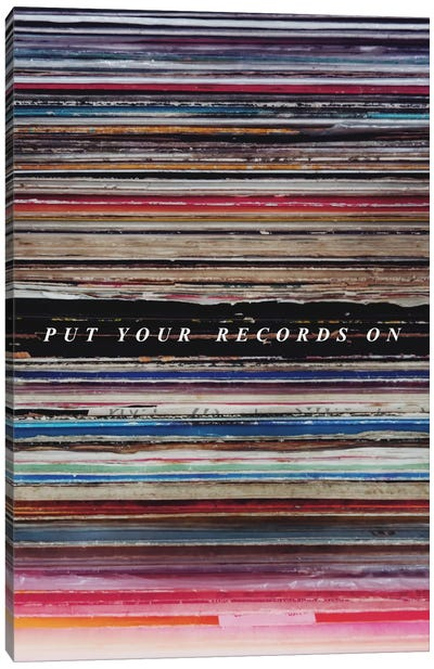 Record Son Canvas Art Print