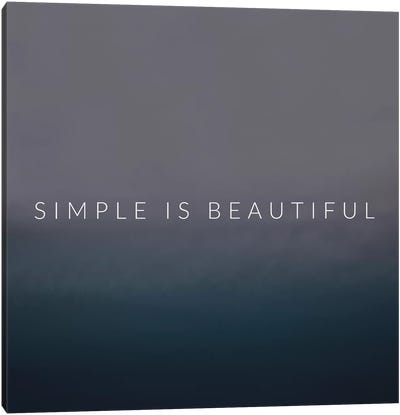 Simple Canvas Art Print