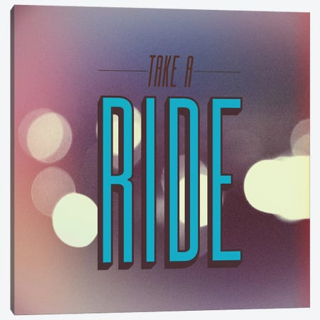 Take A Ride Canvas Print #GES46} by Galaxy Eyes Art Print