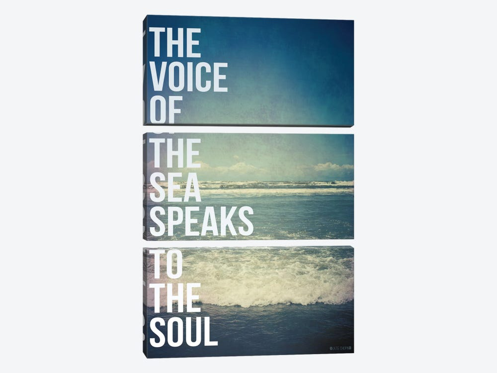 Voice of the Sea by Galaxy Eyes 3-piece Canvas Art Print