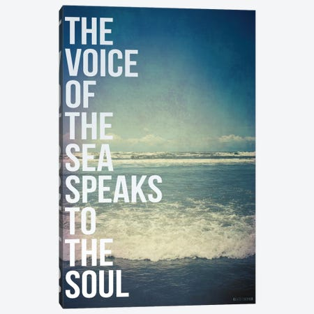 Voice of the Sea Canvas Print #GES47} by Galaxy Eyes Art Print