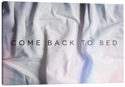 Back to Bed Canvas Art Print