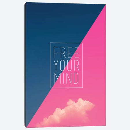 Free Your Mind Canvas Print #GES52} by Galaxy Eyes Art Print