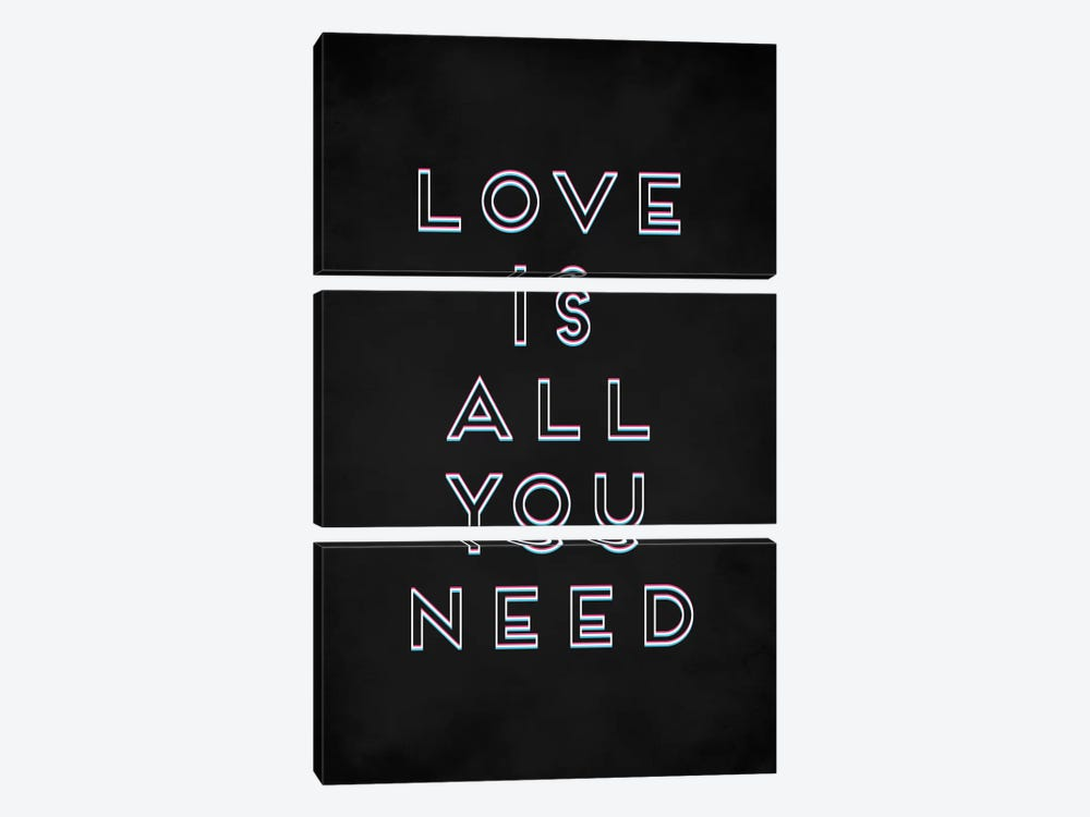Love I by Galaxy Eyes 3-piece Canvas Print
