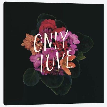 Only Love Canvas Print #GES56} by Galaxy Eyes Canvas Art