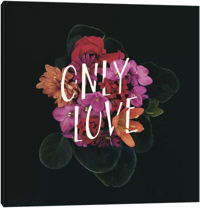 Only Love Canvas Art Print