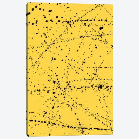 Dazed Confused Yellow Canvas Print #GES5} by Galaxy Eyes Canvas Art