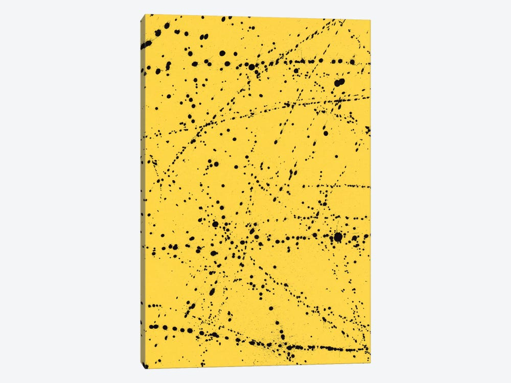 Dazed Confused Yellow by Galaxy Eyes 1-piece Canvas Print