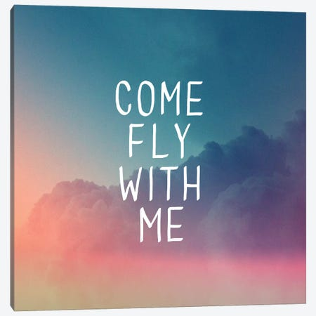 Come Fly Canvas Print #GES61} by Galaxy Eyes Canvas Art