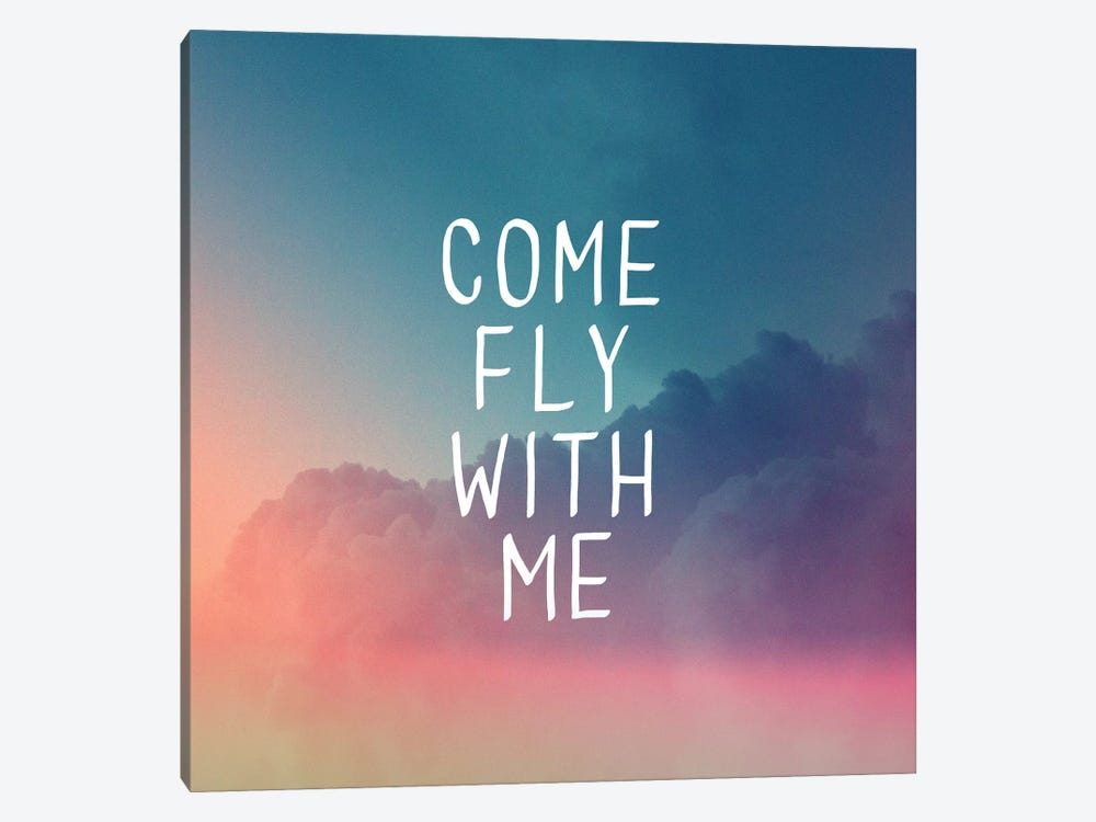 Come Fly by Galaxy Eyes 1-piece Canvas Print