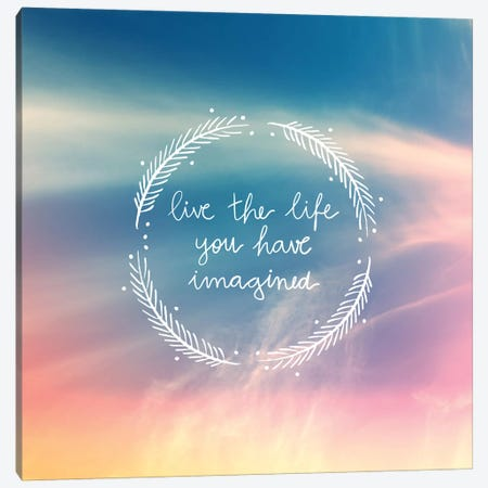 Life Imagined Canvas Print #GES65} by Galaxy Eyes Art Print