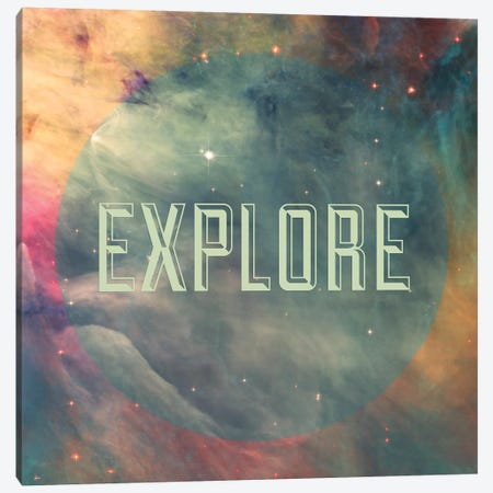 Explore I Canvas Print #GES71} by Galaxy Eyes Art Print