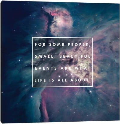 About Life Canvas Print #GES78