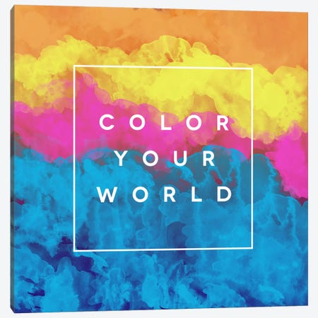 Color World Canvas Print #GES81} by Galaxy Eyes Canvas Wall Art