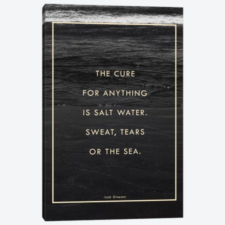 Salt Water Canvas Print #GES94} by Galaxy Eyes Canvas Wall Art