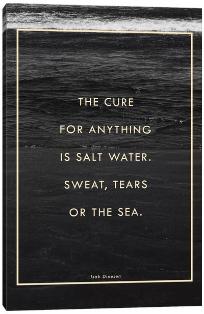 Salt Water Canvas Art Print