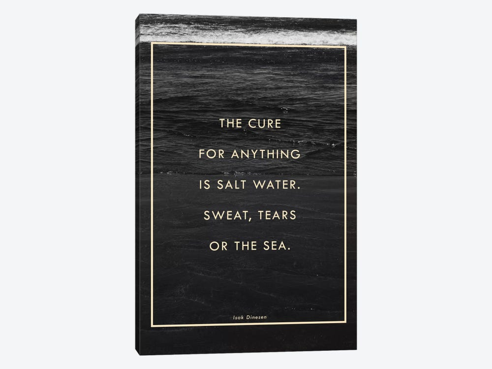Salt Water by Galaxy Eyes 1-piece Canvas Art Print