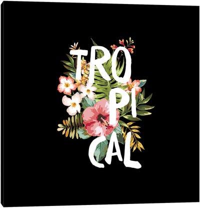 Tropical Black Canvas Art Print