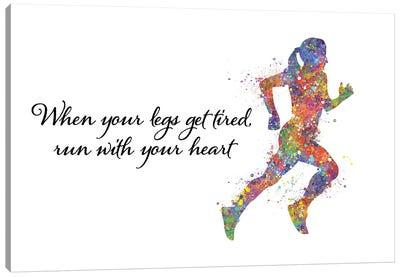 Runner Female Quote I Canvas Art Print