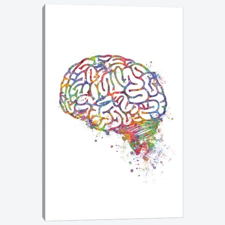 Brain Canvas Print #GFA10} by Genefy Art Art Print