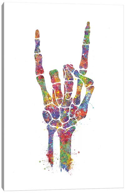 Skeleton Hand Canvas Art Print