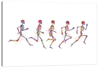 Skeleton Running Canvas Art Print