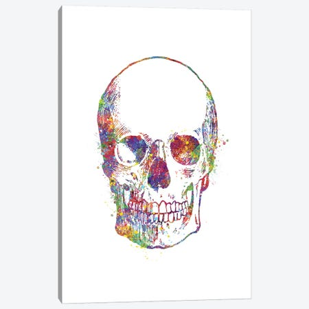 Skull Front Canvas Print #GFA119} by Genefy Art Canvas Artwork