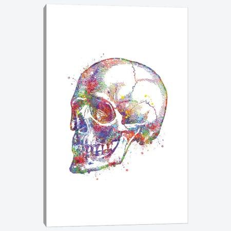Skull Persp Canvas Print #GFA121} by Genefy Art Art Print