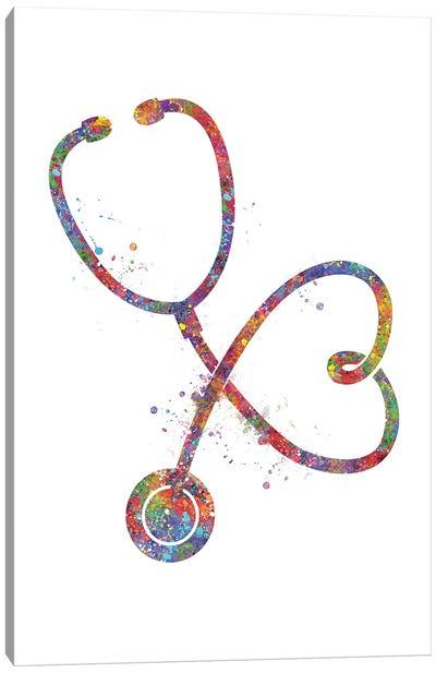 Stethoscope V2 Canvas Art Print
