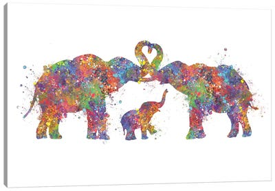 Elephant Family Canvas Art Print