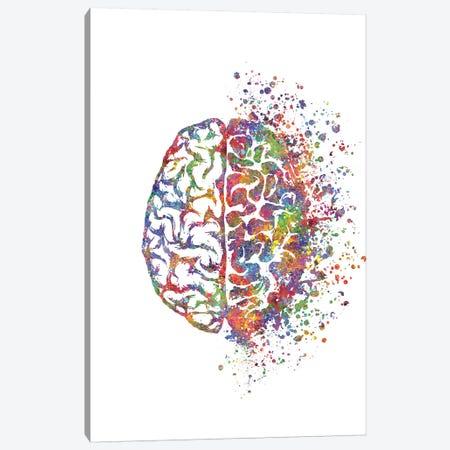 Brain Left Right Canvas Print #GFA15} by Genefy Art Canvas Art