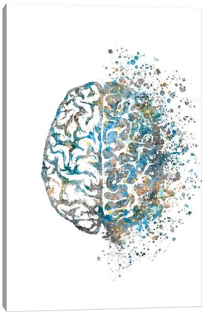 Brain Left Right Blue Gold Canvas Art Print
