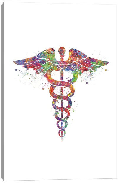 Caduceus Canvas Art Print