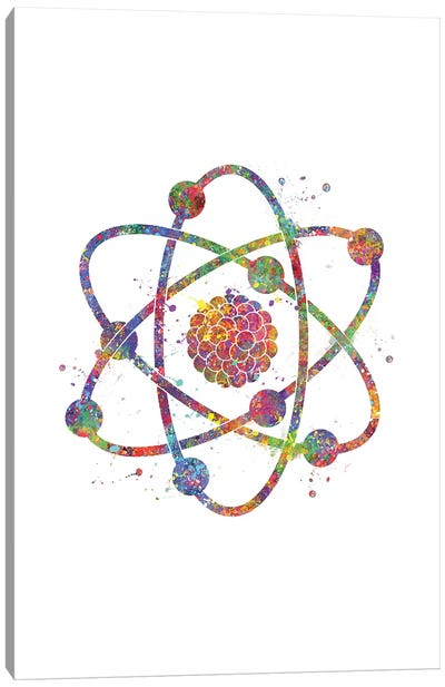 Atom Canvas Art Print