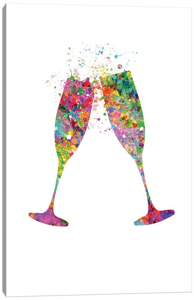 Champagne Flute Canvas Art Print