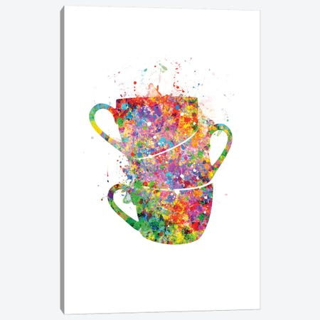 Cups Stacked Canvas Print #GFA27} by Genefy Art Canvas Print