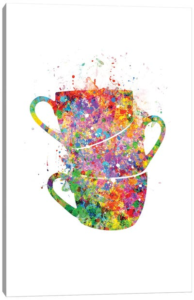 Cups Stacked Canvas Art Print
